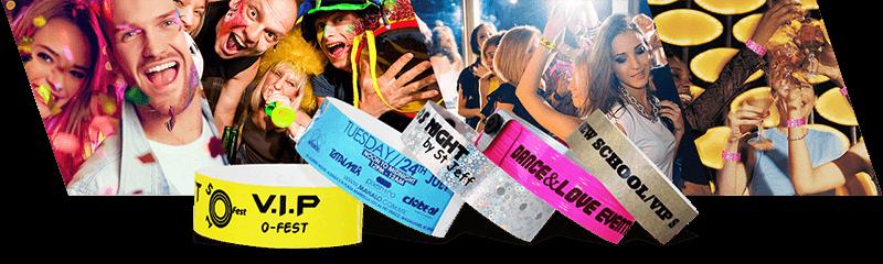 Armbänder für Veranstaltungen und Party's