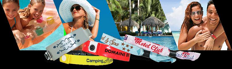 Armbänder für Hotels und Campingplätze