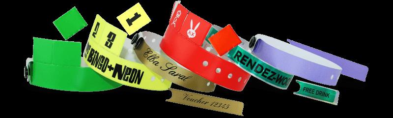Armbänder mit Abreiss-Tickets