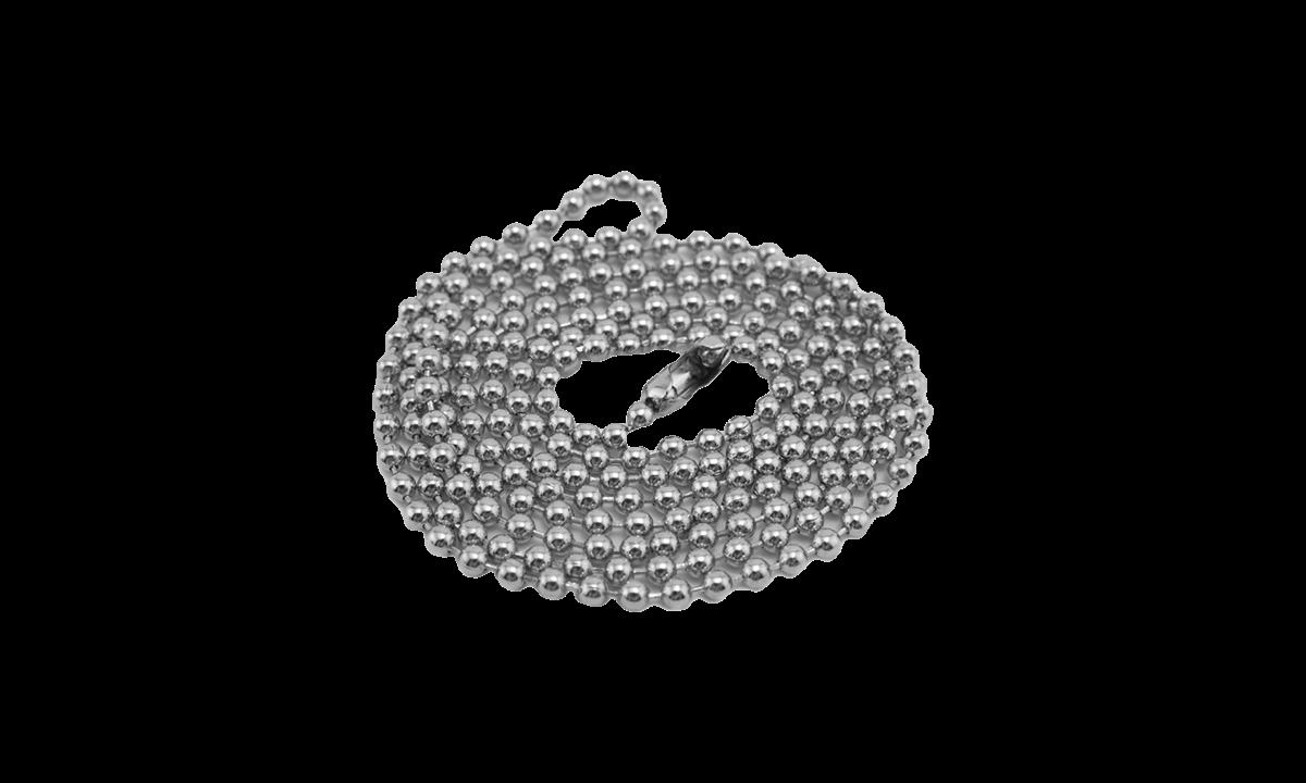 76cm lange nickelfreie Halskette mit Verschluss
