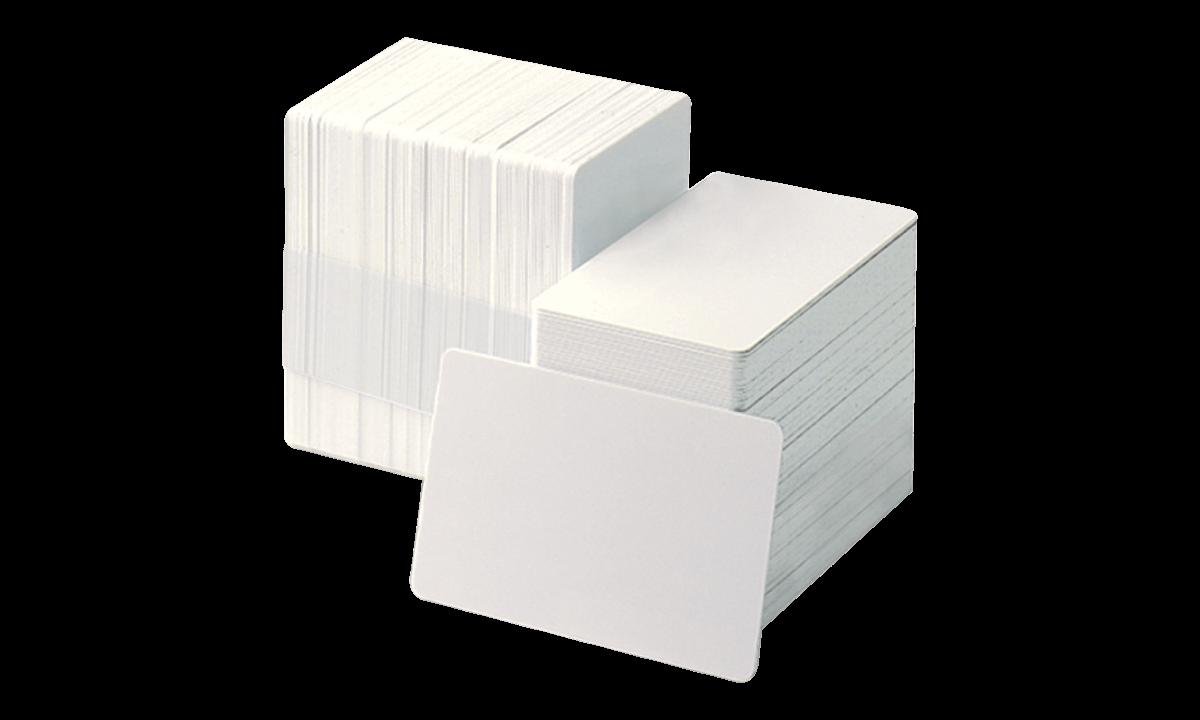 Unbedruckte weisse PVC-Karten - 750 mic