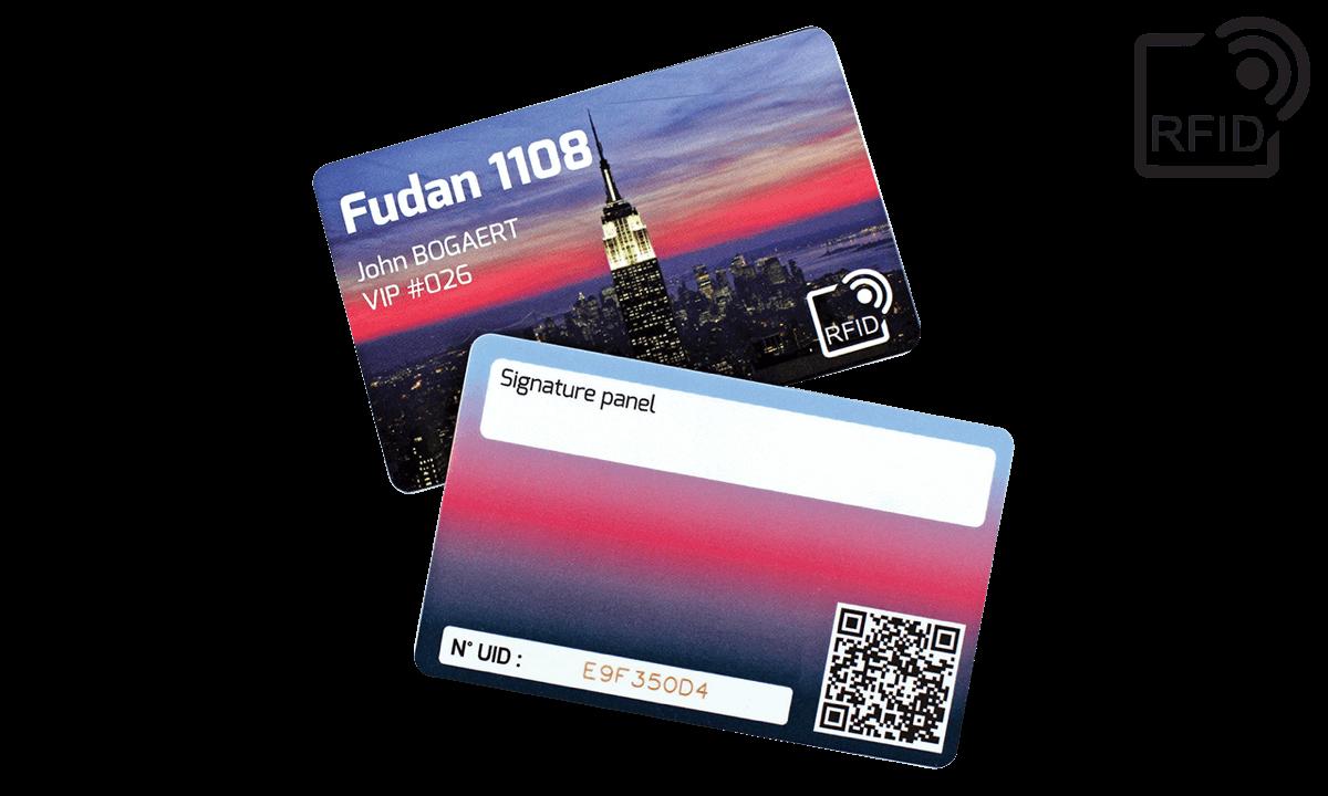 Benutzerdefinierte RFID-Karten 86 x 54 mm - Fudan 1108