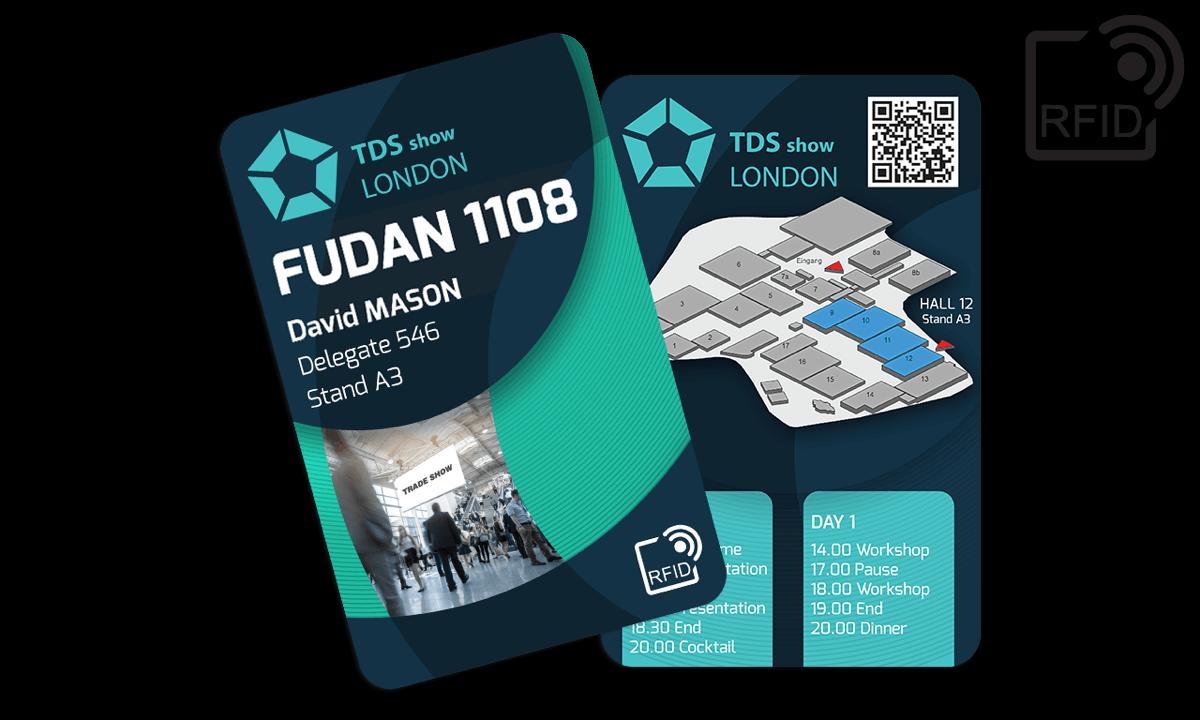 Benutzerdefinierte RFID-Karten 133 x 85 mm - Fudan 1108