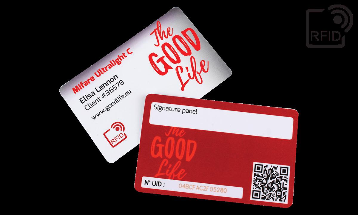 Benutzerdefinierte RFID-Karten 86 x 54 mm - Mifare UltraLight C
