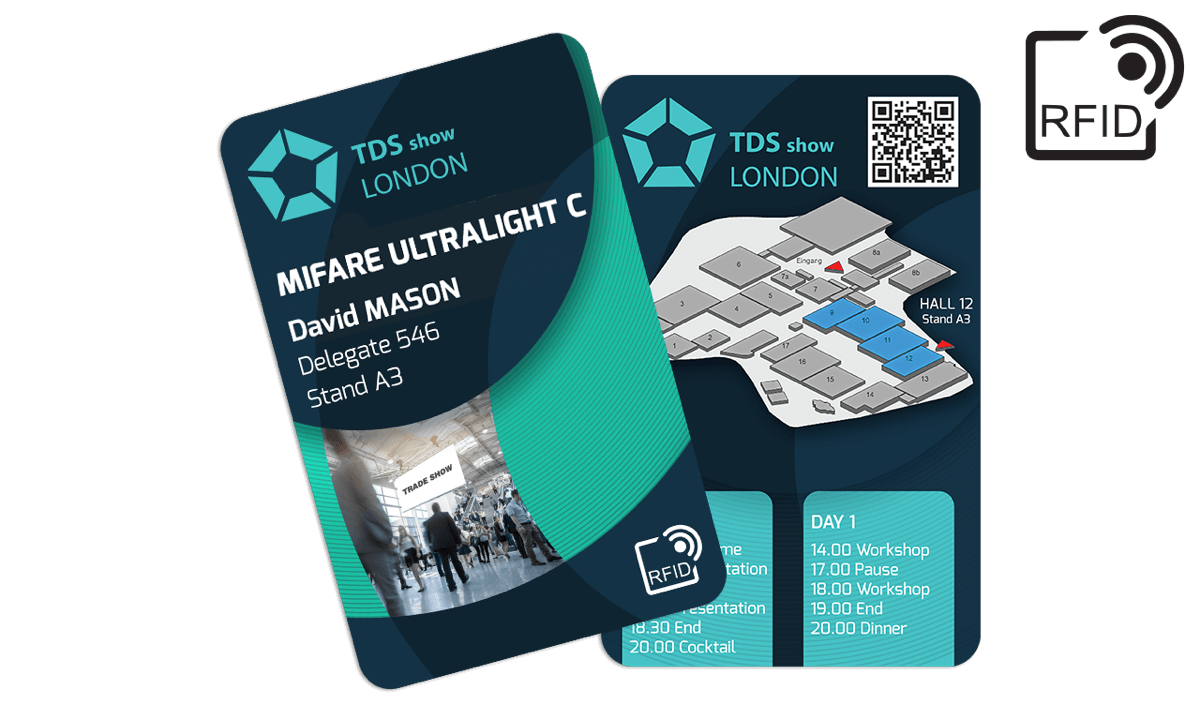 Benutzerdefinierte RFID-Karten 133 x 85 mm - Mifare UltraLight C