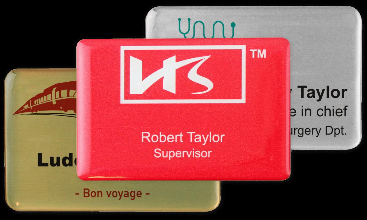 Premium Impress Namensschild, 75 x 50 mm