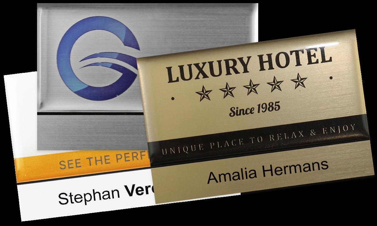 Premium wiederwendbares Namensschild, 75 x 50 mm, 12 mm Etikette zum Aufkleben