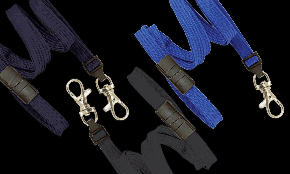 10mm dicke, hülsenförmige Schlüsselbänder mit Sicherheitsverschluss und Schnapphaken