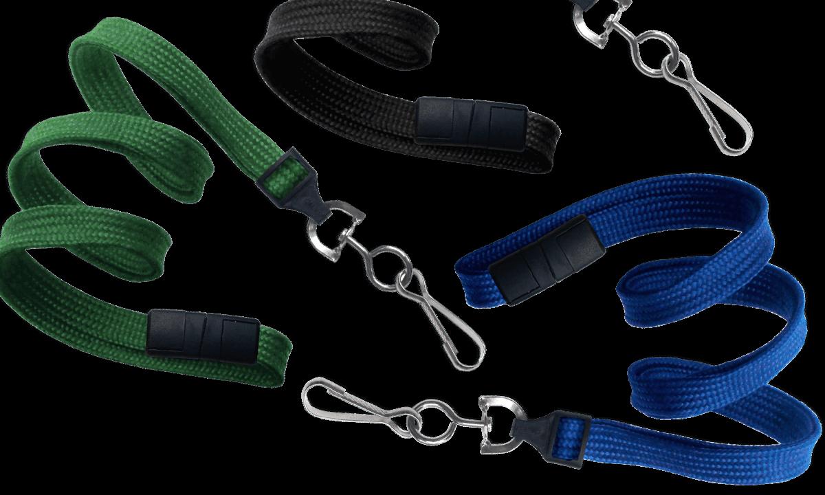 10mm dicke, hülsenförmige Schlüsselbänder mit Sicherheitsverschluss und Metallkarabiner