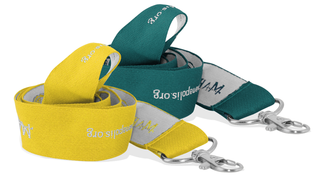 Personalisiertes, 25mm breites, gewebtes Schlüsselband – Einfarbige Personalisierung
