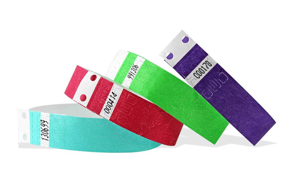 Tyvek®-Armbänder 19 mm, vorgedruckt mit Serien-Nummerierung