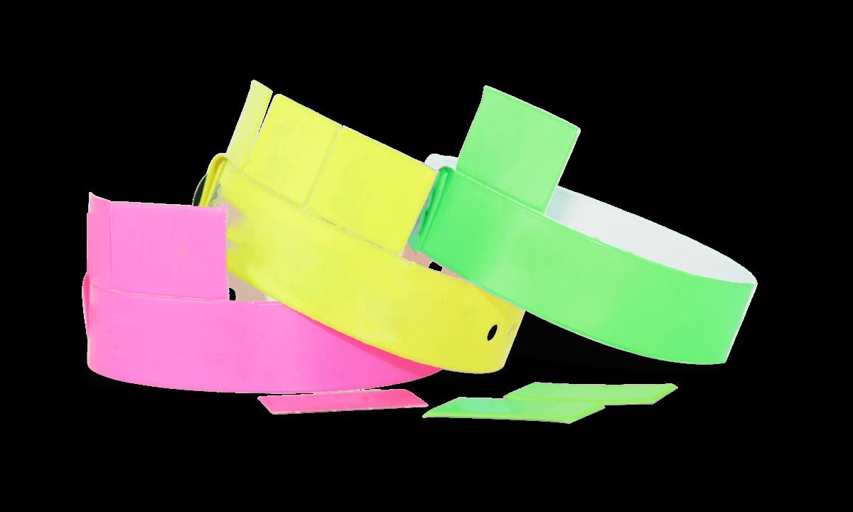 3-Tab Vinyl-Armbänder, 19 mm