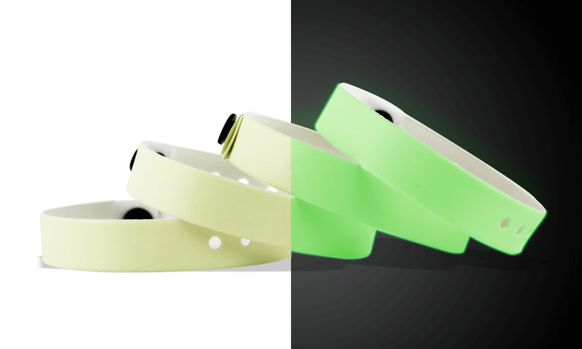 Vinyl-Armbänder, 13 mm, Glow in the Dark