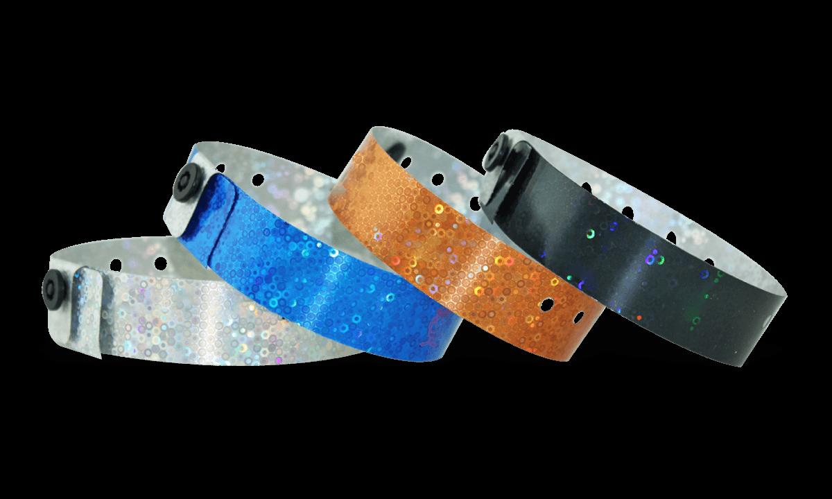 Holografische Armbänder, 19 mm, Liquid Glitter