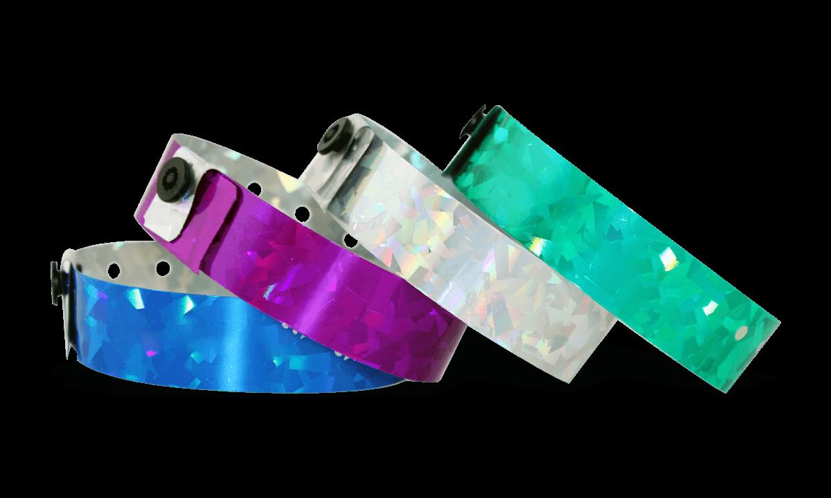 Holografische Armbänder, 19 mm, Confetti
