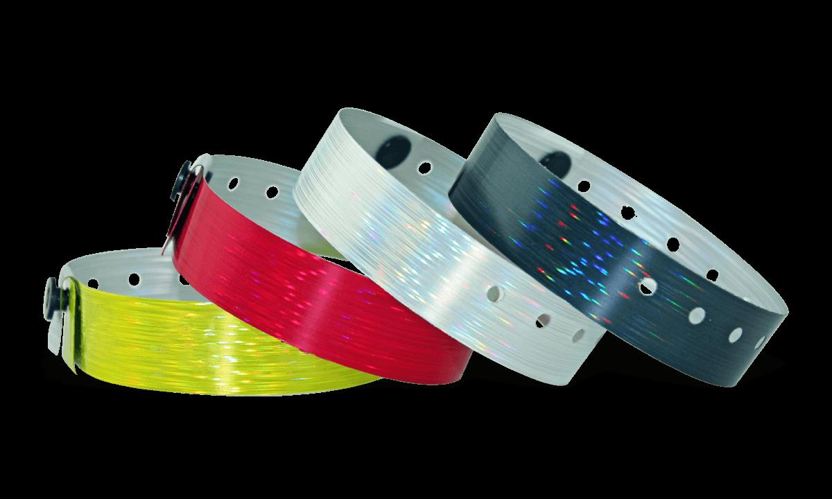 Holografische Armbänder, 19 mm, Rain