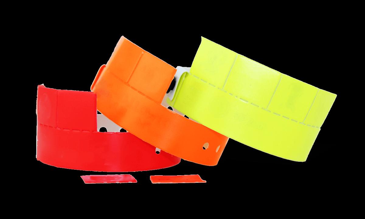 4-Tab Vinyl-Armbänder, 19 mm