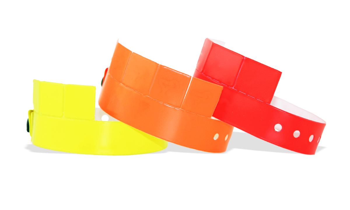 5-Tab Vinyl-Armbänder, 19 mm