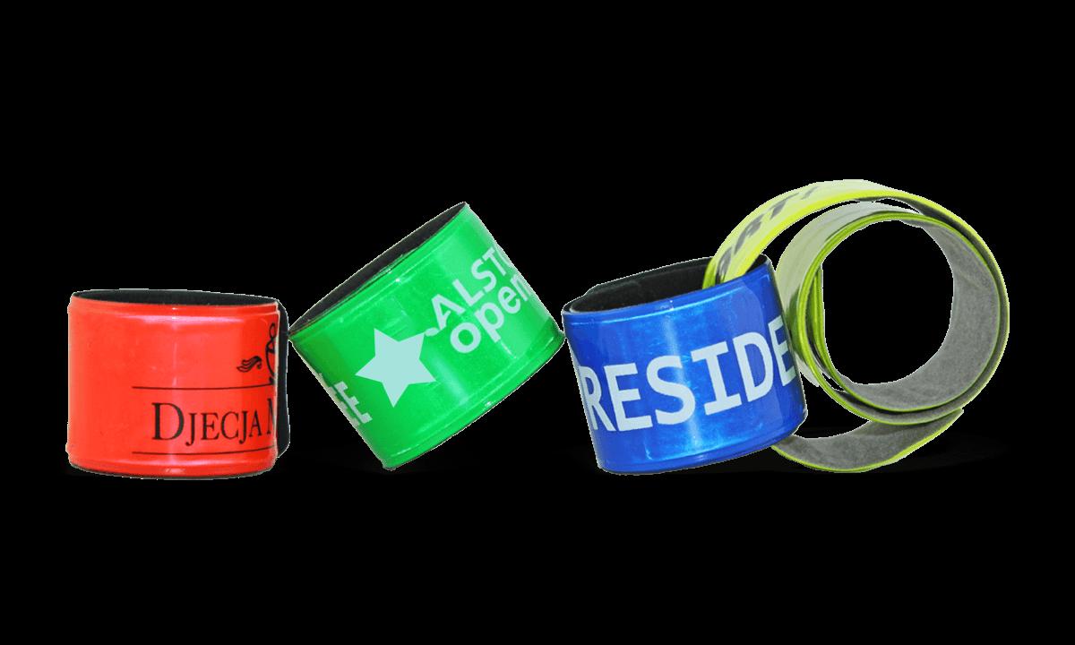 Personalisierte Kunststoff-Schnapparmbänder, 30 x 400 mm