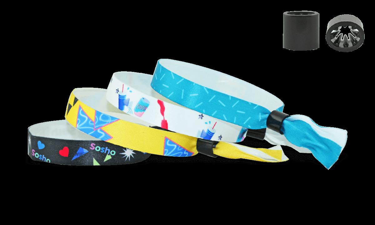 Gedruckte weiche Satin-Armbänder mit Kunststoff-Schiebeverschluss, Oslo