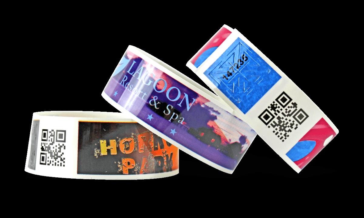 Vollfarbigen Barcode-Armbänder, TVS, 25 mm (glänzende Oberfläche)