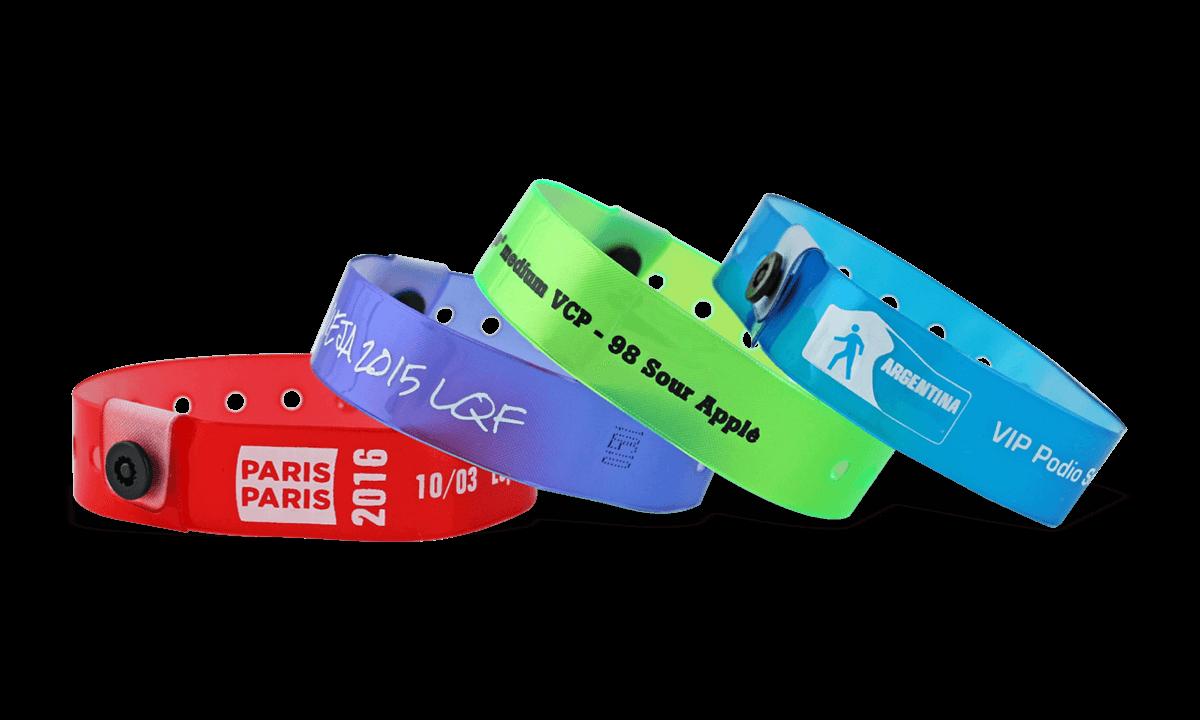 Personalisierte Lichtdurchlässige Medium Vinyl-Armbänder, 19 mm