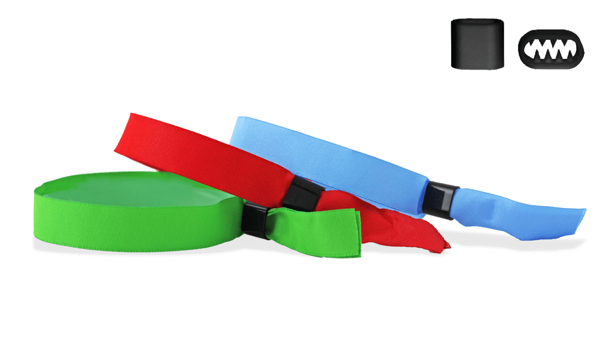 Lagernde Stoff-Armbänder mit flachem Kunststoffverschluss, Berlin