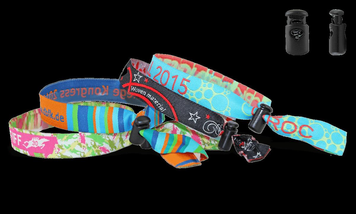 Gewebte Stoff-Armbänder mit wiederverwendbarem Kunststoffverschluss, Venice