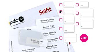 DoubleLine Selfit®-Einleger, 70mm x 18mm, weiß, 500Einleger