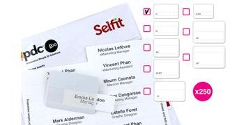 SingleLine Selfit®-Einleger, 70mm x 12mm, weiß, 250Einleger