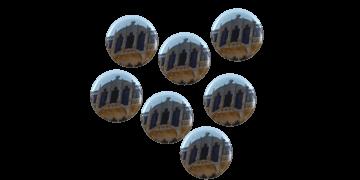 Ansteck-Namensschilder, rund, 25 mm