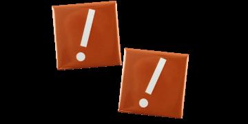 Ansteck-Namensschilder, quadratisch, 40 x 40 mm