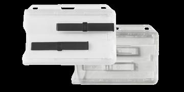 Fester horizontaler Premium-Zweifach-Kartenhalter mit Schiebern