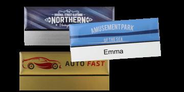 Premium wiederwendbares Namensschild, 75 x 32 mm, 12 mm Etikette zum Aufkleben