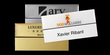 Premium wiederwendbares Namensschild, 75 x 38 mm, 18 mm Etikette zum Aufkleben