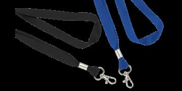 16mm breite, flache Schlüsselbänder mit Schnapphaken
