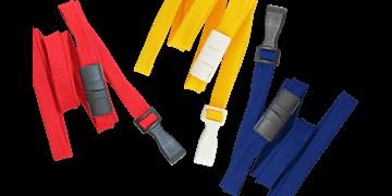 10mm dicke, hülsenförmige Schlüsselbänder mit trennbarer Lasche und Kunststoffhaken