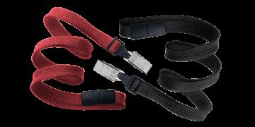 10mm dicke, hülsenförmige Schlüsselbänder mit trennbarer Lasche und Krokodil-Klemme