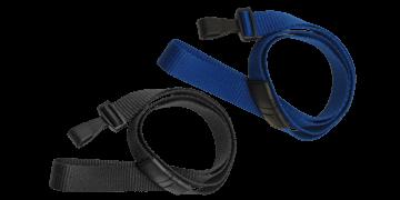16mm breite, flache Schlüsselbänder mit trennbarer Lasche und Kunststoffhaken