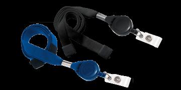 16mm breite, hülsenförmige Schlüsselbänder mit trennbarer Lasche und Namensschild-Jojo