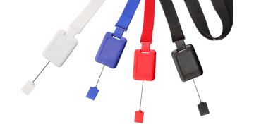 16 mm dicke, flache Schlüsselbänder mit Sicherheitsverschluss und SlimReel-System