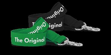 Personalisiertes, 20mm breites, gewebtes Schlüsselband – Einfarbdruck