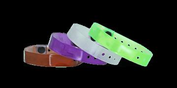 Lichtdurchlässige Vinyl-Armbänder, 13 mm