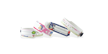Personalisierte vollfarbige Kuntstoff-Armbänder für Kinder, 19 mm