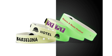 Personalisierte Vinyl-Armbänder, 13 mm, Glow in the Dark