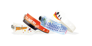 Personalisierte vollfarbige Kuntstoff-Armbänder, 25 mm, Big