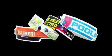 Personalisierte vollfarbige Kuntstoff-Armbänder, 25 mm, Breit