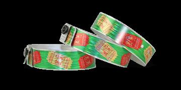 Personalisierte vollfarbige holografische Armbänder, 19 mm, Rain