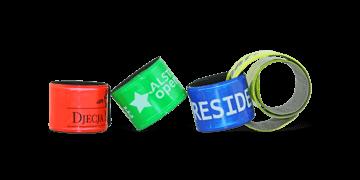 Personalisierte Kunststoff-Schnapparmbänder, 25 x 250 mm
