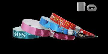 Gedruckte Satin-Armbänder mit flachem Metallverschluss, Honolulu